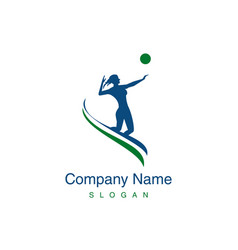 volleyball woman player logo vector image vector image