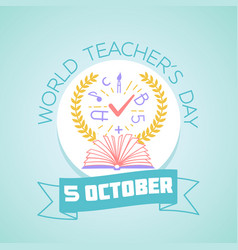 World teachers day vector