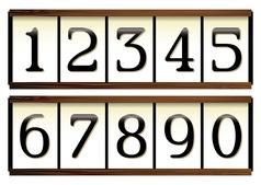 Door numbers vector image