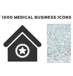 Excellent building icon with 1000 medical business vector