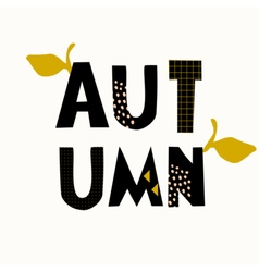 Typographic autumn design vector