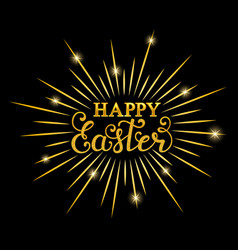 Happy easter inscription vector