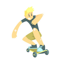 guy doing skateboarding part of teenagers vector image