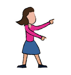 Female funny dancing entertain vector