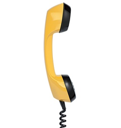 Handset of vintage telephone vector
