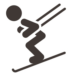 Downhill skiing vector