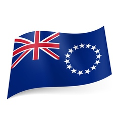 Flag of Cook Islands vector image
