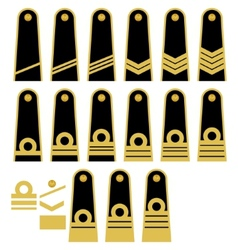 Lithuanian navy insignia vector
