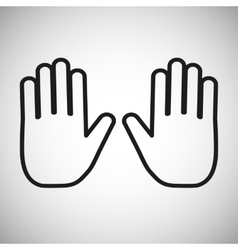 Hand outline icon vector image