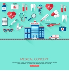 Medical research and healthcare system concept vector