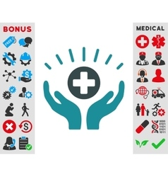 Medical prosperity icon vector