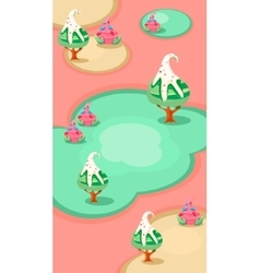 Vertical landscape  candy islands vector