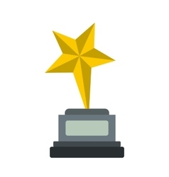 Goblet star flat icon vector