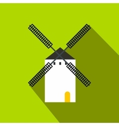 Spanish windmill icon flat style vector