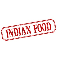 Indian food square red grunge vintage isolated vector