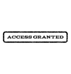 Access granted watermark stamp vector