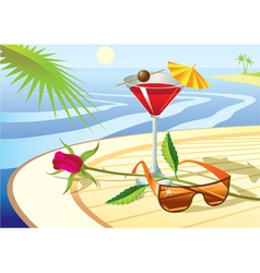 Beach cocktail vector image vector image