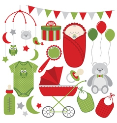Christmas baby set vector