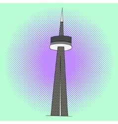 Cn tower pop art vector