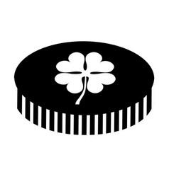 coin with clover icon vector image
