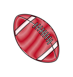 drawing american footbal ball sport equipment vector image vector image