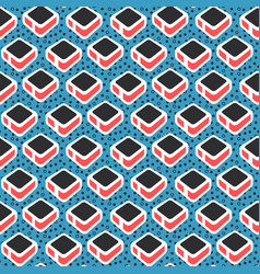 Geometric abstract seamless pattern simple motif vector