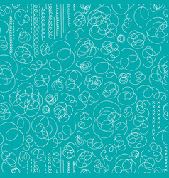 Hand drawn abstract seamless pattern in memphis vector