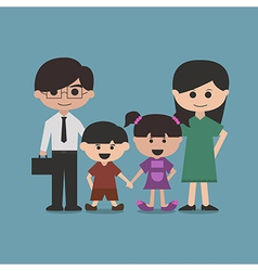 happy family cartoon character vector image vector image