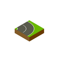 isolated road isometric asphalt element vector image