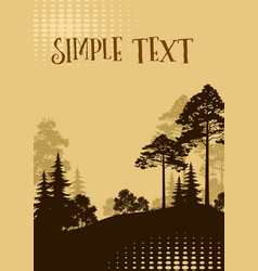 landscape trees silhouettes vector image
