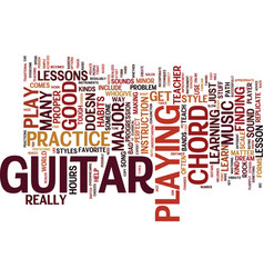 learn how to play that guitar text background vector image vector image