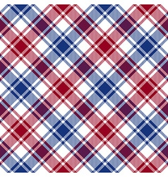 Red blue white diagonal check texture seamless vector image vector image