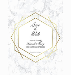 save the date design template for getting married vector image vector image