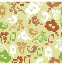 Seamless vintage spring background vector image