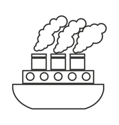 ship boat vehicle isolated icon vector image