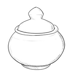 sketch of doodle pot vector image vector image