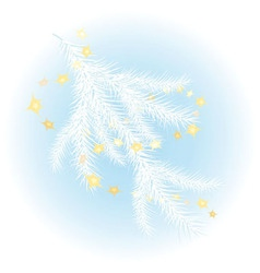 snow-covered christmas tree vector image