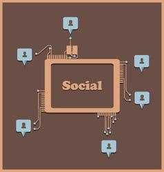 Social2 vector image vector image