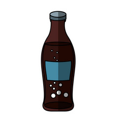 Soda bottle isolated icon vector