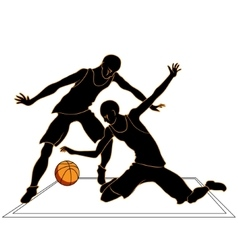 Sports games volleyball silhouettes vector