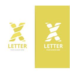 unique letter x logo design template vector image