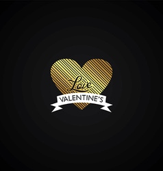 valentines day heart theme vector image