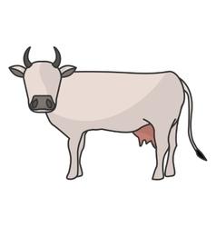 Indian brown cow vector