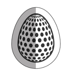 Isolated happy easter egg design vector