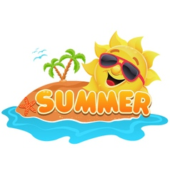 Summer theme vector