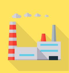 Factory in flat design vector