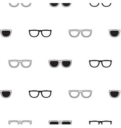 Sunglasses retro seamless pattern in black and vector