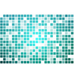 Turquoise shades occasional opacity mosaic over vector