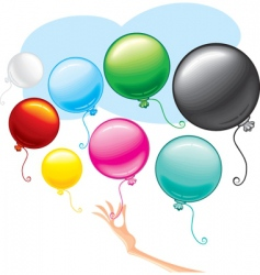 Beauty balloons vector