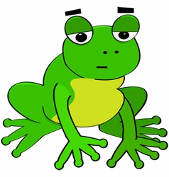 Bored frog vector